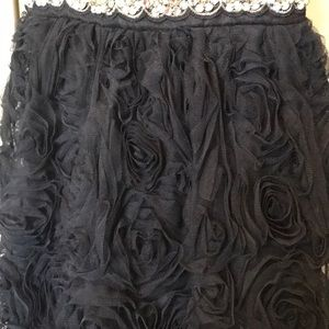 Trixxi Dresses - Short Navy Rosette Formal Dress by Trixxi